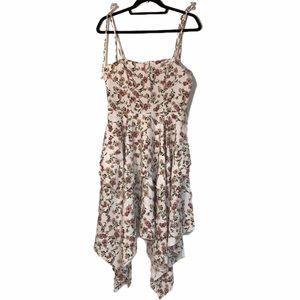 PRETTYLITTLETHING FLORAL ASYMMETRICAL DRESS SIZE 8
